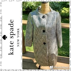 Kate Spade Acrylic B&W coat